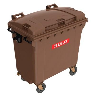 Plastový kontejner na bio odpad SULO 770 l, hnědý