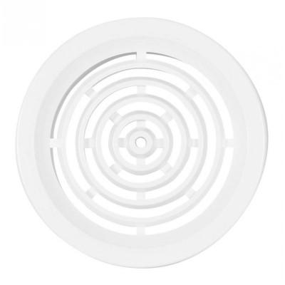 Větrací mřížka kruhová se síťovinou 75mm bílá