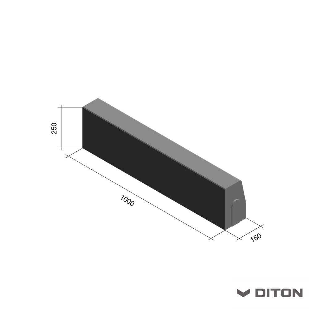 Silniční obrubník 100x15x25cm
