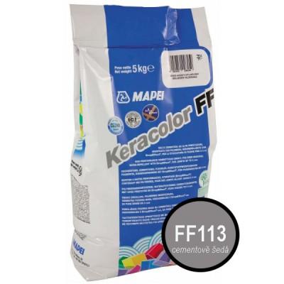 Spárovací hmota Mapei- KERACOLOR FF 113 cementově šedá, 5kg