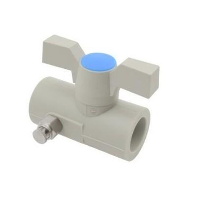 PPR kohout kulový plastový s výpustným ventilem DN 25